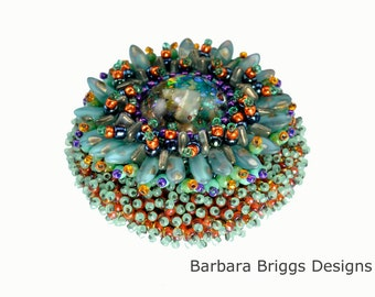 "The ""Marine Life Anemone"" Bead Embroidered Brooch Kit"