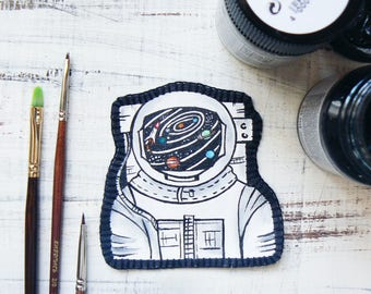 Astronaut Patches Space Patch Iron on Patches for Jackets Adventure Patches Space Explorer Funny Back patches Embroidered Appliques