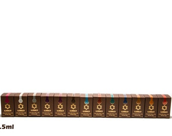 Pack of 13 x diffrent Anointing Oil Scents 7.5ml. From Holyland Jerusalem