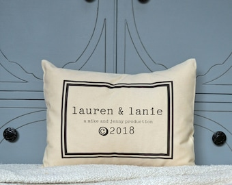 Twin baby gift, baby pillow, personalized baby shower gift, trendy baby,
