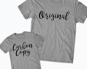 Original and Carbon Copy shirt, Mommy and Me shirt, Mommy and Me shirts, Matching Mom and Daughter, Matching shirts, Matching Outfits