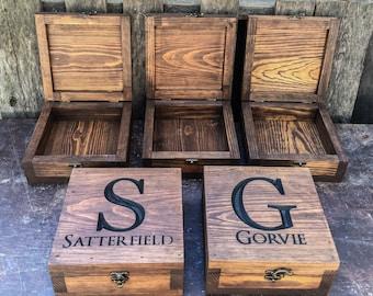 Groomsmen gift Set - Groomsman gift - Keepsake box - Memory box - Gift for him - Best man gift - Wedding gift - bachelor gift- Gift for men