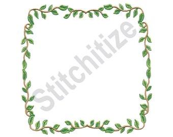 Leaf Border - Machine Embroidery Design, Leaves, Border, Frame