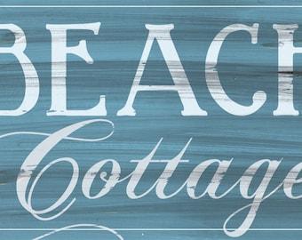 Beach Cottage sign, Shabby Chic Sign, Shabby chic Beach, Coastal decor, Beach house decor