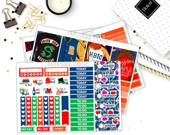 South Side - Riverdale Mini Weekly Kit - White Space Planning - Planner Stickers - 150+ Stickers
