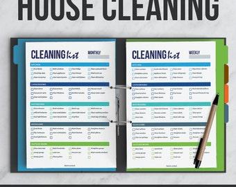 House Cleaning Kit | Interactive | Editable PDF | Printable | Organizer