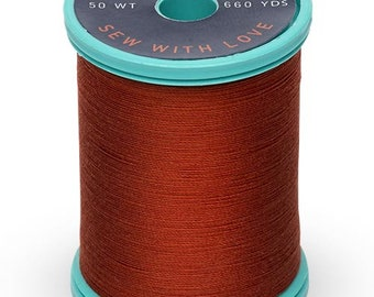 Rust (1181) Cotton + Steel 50wt Egyptian Cotton Thread by Sulky