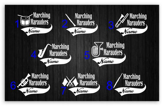 Marching Band Car Stickers