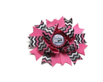 My Daddy is a Mechanic Hair Bow, Boutique Hair Bow, Automobile Hair Bow, Daddy Hair Bow, Mechanic Daddy Bow