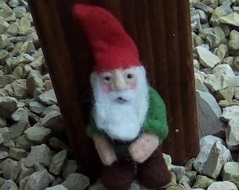 Needle felted gnome miniature