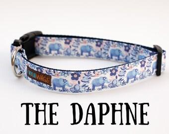 Handmade Elephant dog collar, Floral dog collar, dog collar for girls, dog collar, dog lover