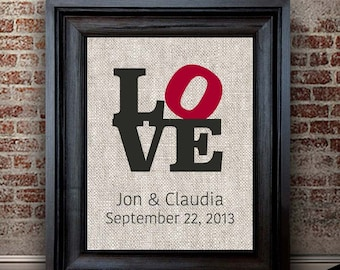 Year Anniversary Gift for Him | Newly Married Gift | Philly Love Print | Cotton Print | Personalized Gift for Husband