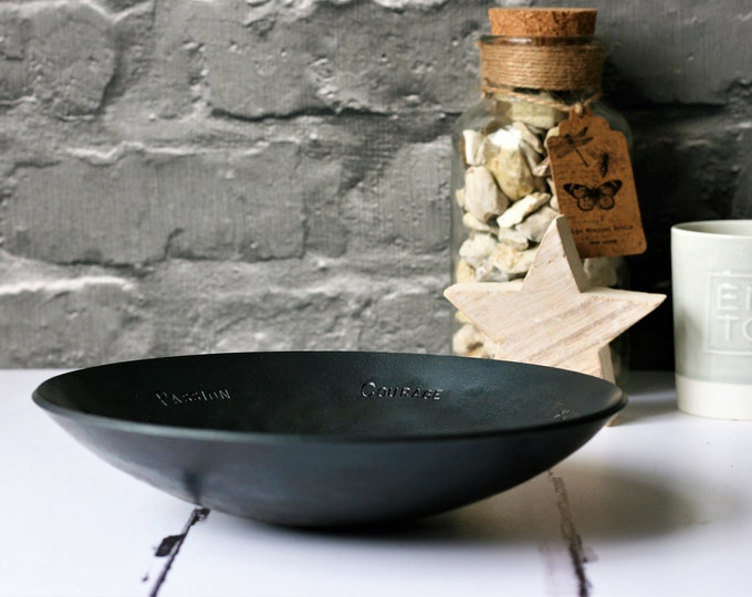Large Forged Steel Bowl