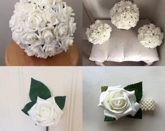 """The """"Pearl"""" Artificial Flowers Wedding Package"""