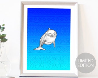 Orca Limited Edition (/12) Signed & Numbered Fine Art Giclee Print