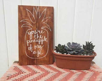 Hand Painted Pineapple Sign