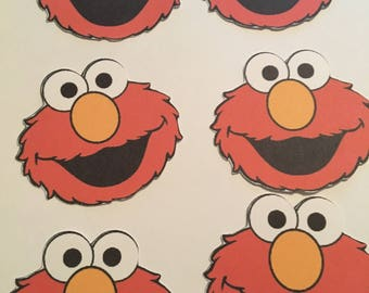 6 Sesame Street Elmo or Cookie Monster Cutouts