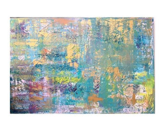 LARGE Abstract Painting / Contemporary / Original art on Canvas / 30x20