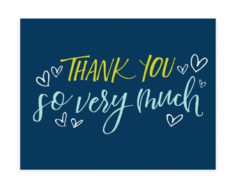 THANKS SO MUCH, Notecard Set, Notecards and Envelopes, Notecards, Note cards, Note card set, All Occasion Cards