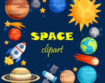 Space clipart. Space clip art. Outer space. Outer space clipart. Planet clipart. Rocket clipart.