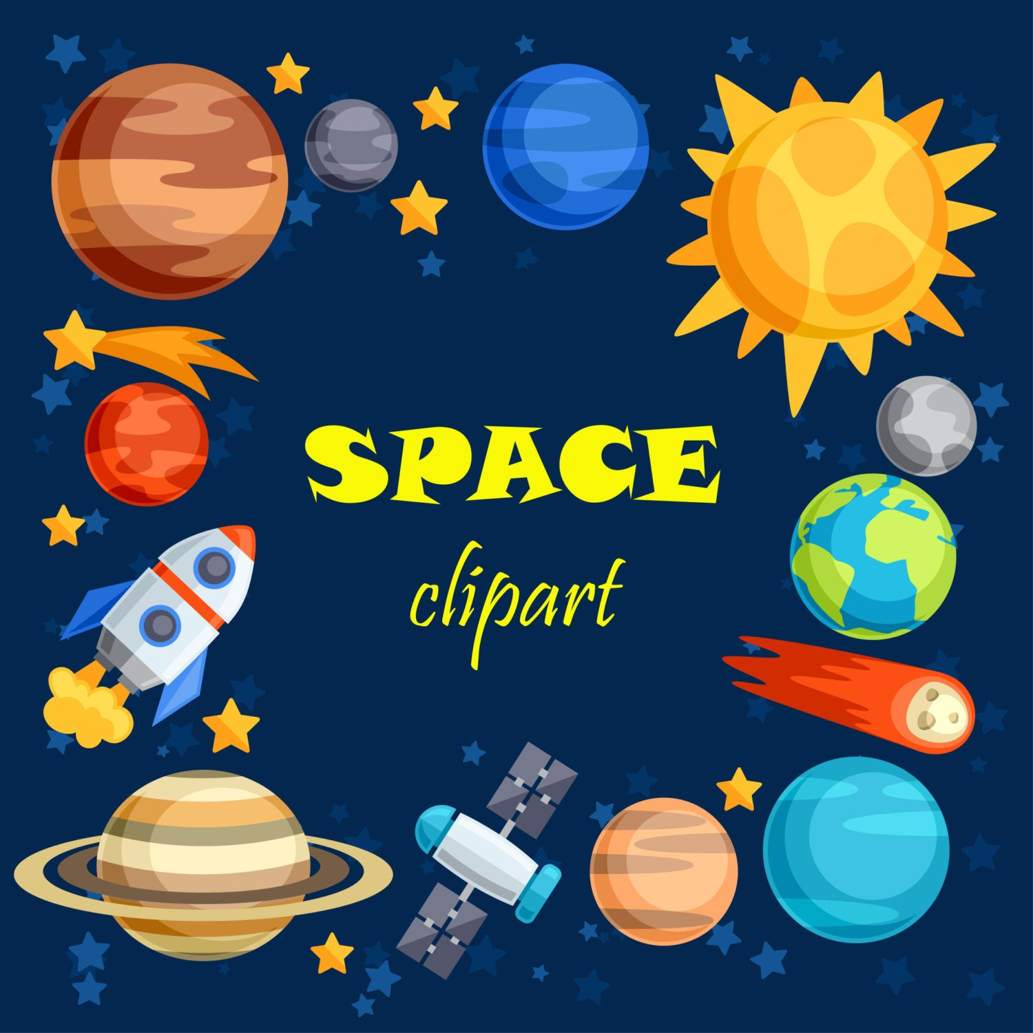 Space clipart space clip art outer space outer space for Outer painting design
