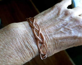 Woven Copper Cuff