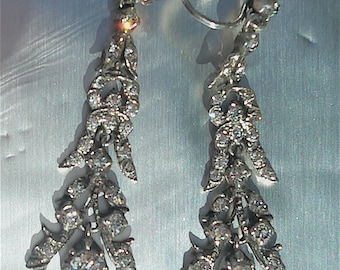 Silver and Paste Victorian earrings