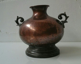Old Amphora in Copper and Bronze