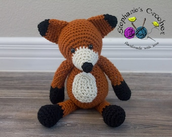 Crochet Fox doll, soft and plush doll, Soft Toy Doll, Plush Toy, Stuffed Toy fox, Soft Toy, Fox, Amigurumi toy-Made to Order