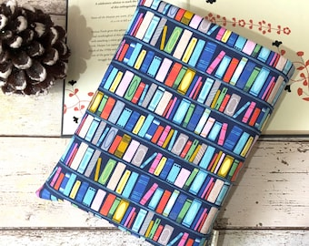 Bookcase Book Buddy, Padded Book Cover, Shelfie Book Gift, Choose your Size Book Sleeve, Luxury Book Bag, Bookstagram Accessories
