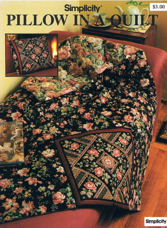 Pillow in a Quilt/ Quillow Sewing Pattern by Simplicity from ...