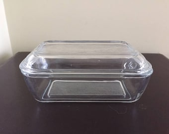 Vintage Arc of France Butter Dish, Refrigerator Dish, Vintage Butter Dish with Lid, 1960s Kitchen
