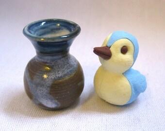 The Blue Bird Miniature Vase