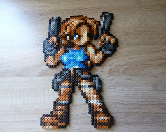 Sprite Lara croft : Tomb raider • Hama Beads •  Pixel/art • Perler Beads