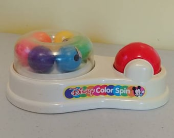 Vintage Mickey Mouse Disney Color Spin Toddler Toy 1980s