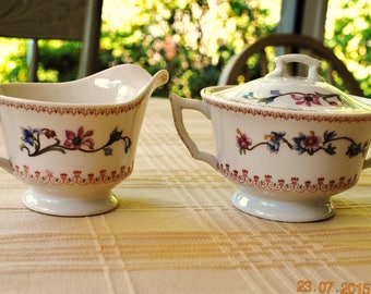 Syracuse China Cream and Sugar Old Ivory Pattern SY1162