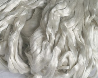 Soft And Shiny Mulberry Bombyx Silk Sliver 2 Ounces