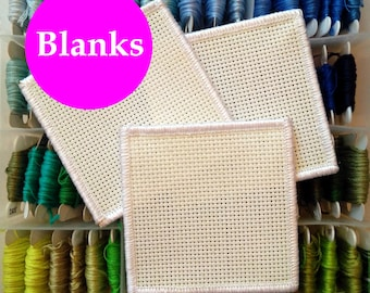 Three blank cross stitch patches - DIY patch - stitchable patch - cross stitch kit