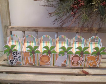 Jungle Babies Gable Favor Boxes Set of 30 with Free Shipping