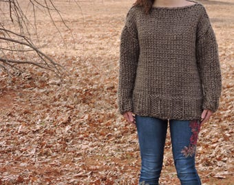 Chunky Knit Blanket Sweater