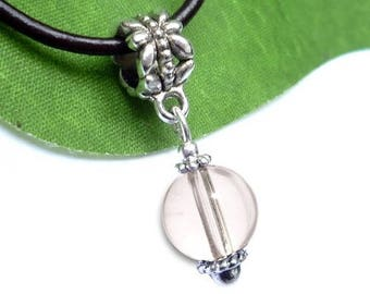 Pendant silver plated - crystal sphere