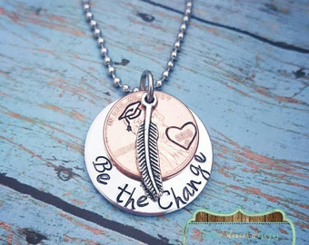 Graduation Gift - Senior Necklace - Class of 2016 Gift - Hand Stamped Penny Necklace - Graduate Gift - Graduation Jewelry - Personalized