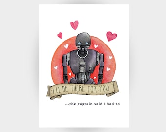 Love Card - A6 Card - Anniversary Card - Anniversary for Him - Funny Love Card - Silly Anniversary - Nerdy Card - Rogue One