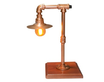 Mini Copper Pipe Lamp, Edison Bulb Lamp, Steampunk Lamp, Table Lamp, Industrial Lamp, Loft Lighting