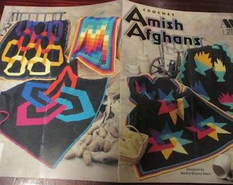 Crochet Patterns Amish Afghans Annie's Attic 871015 Martha Brooks Stein Crochet Pattern Leaflet HTF
