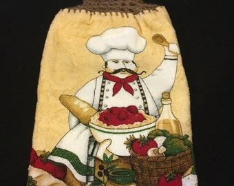Happy Chef Double Sided Kitchen Hand Towel Brown 1