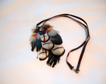 Vintage Hippie Boho Feather Necklace