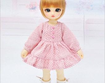 Pink Polka dot dress