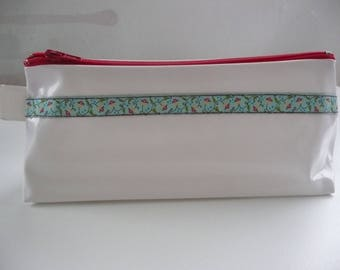 Kit in white oilcloth with pretty Ribbon N ° 6