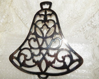 International Silver Co. Silver Plated  Bell Shaped Trivet Collectibles Hot pad Kitchen wall hanging